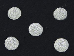 `Кабошон круглый, акрил, блестящий, 20 мм, цвет №01 прозрачный