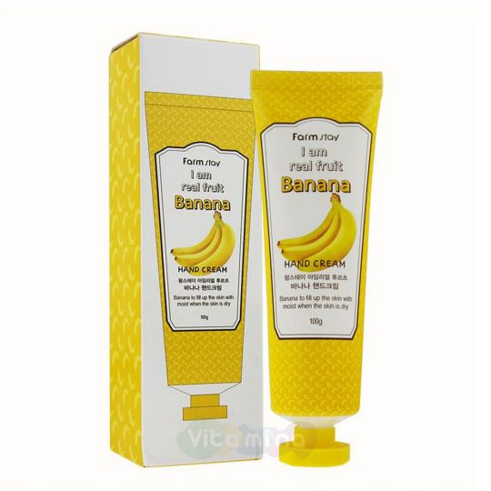 FarmStay Крем для рук с экстрактом банана I Am Real Fruit Banana Hand Cream, 100 мл