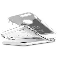 Купить оригинальный чехол Spigen Hybrid Armor для iPhone 7 Plus белый противоударный чехол для Айфон 7 Плюс в Москве в интернет магазине аксессуаров для смартфонов elite-case.ru