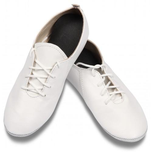 Джазовки кожаные GS104 белые