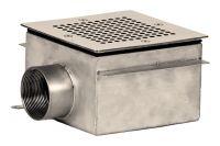 "Слив донный квадратный сетчатый XenoZone 150х150х100 2""(внутр.) пленка"