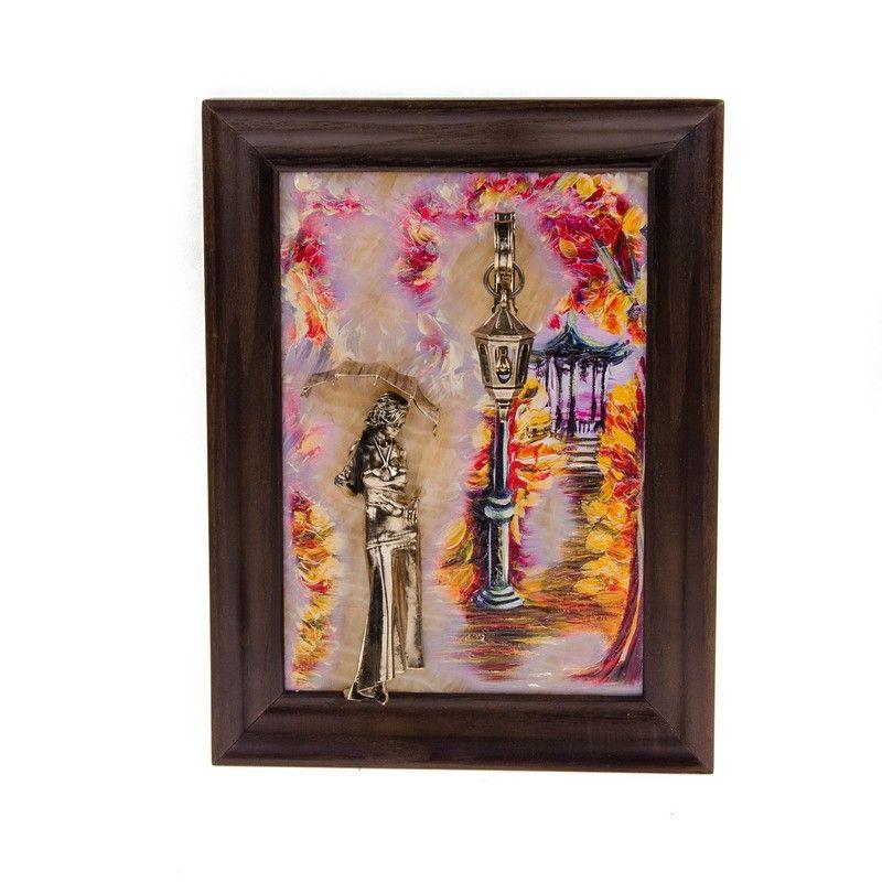 """КАРТИНА """"Девушка с зонтом. Осень"""""""