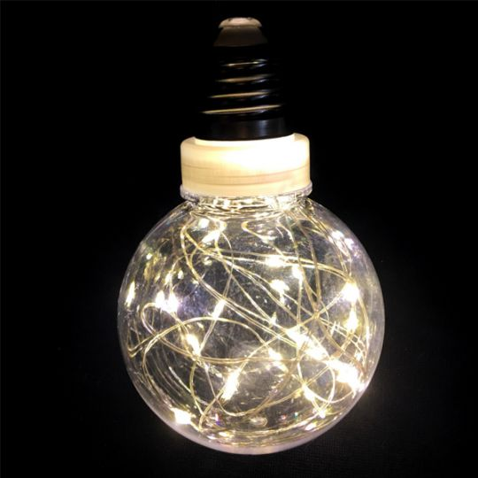 Ретро-лампа со светодиодной нитью, 8 см 1 шт, Цвет света: Белый тёплый