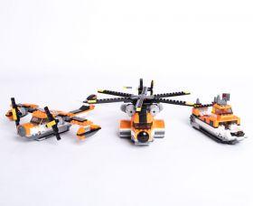 Конструктор 3 в 1 Гидроплан Катер Вертолет Lego реплика 383 детали