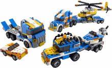 Конструктор 3 в 1 Автовоз Эвакуатор Вертолет Lego реплика 277 деталей