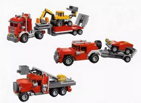 Конструктор 3 в 1 Спецтехника Автовышка Джип Lego creator реплика 256 деталей
