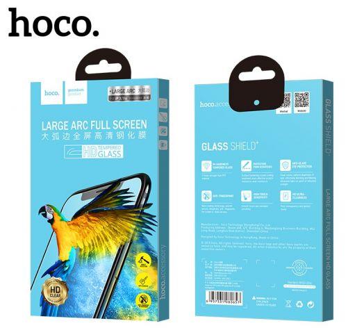 Защитное закаленное стекло Hoco для iPhoneX (A10), LARGE ARC прозрачное