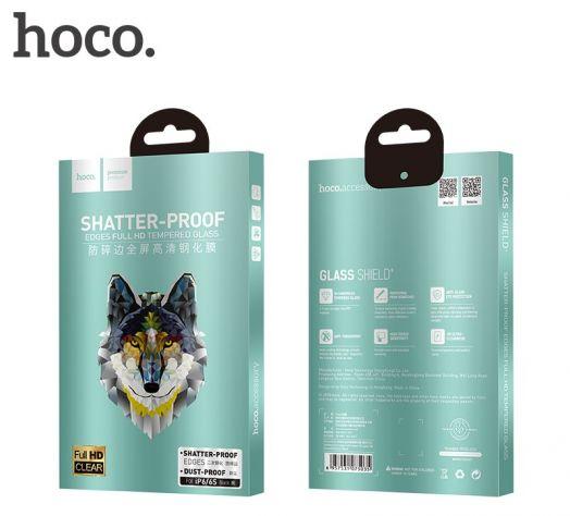 Защитное закаленное стекло Hoco Shatterproof edges для iPhone 6/6S (A1), черное