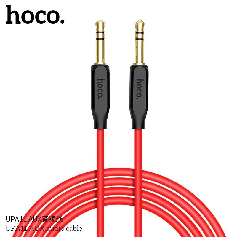 Аудиокабель AUX Jack 3.5mm-Jack 3.5mm Hoco UPA11, черный