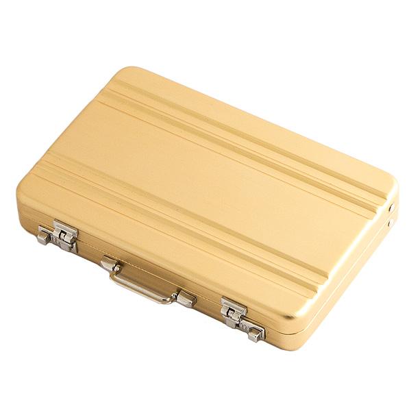 Визитница ЧЕМОДАН золотая 100х65 см