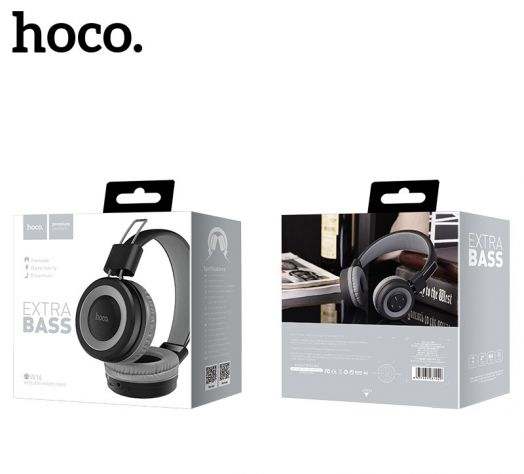 Беспроводные полноразмерные наушники Hoco W16 Cool motion, серые