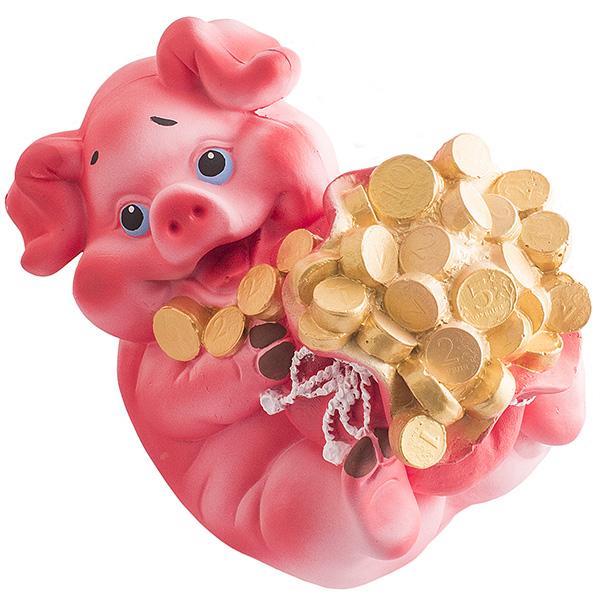Копилка Свинка с монетками Хавронья