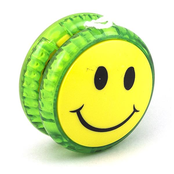 Волчок на шнуре Yo-Yo Смайл классика Зеленый