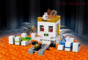 Конструктор LELE Minecraft Арена-череп 33226 (Аналог Lego Minecraft 21145) 210 дет