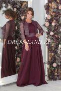 Бордовое платье в пол с болеро