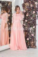 Пудровое платье в пол с болеро