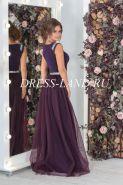 Фиолетовое облегающее платье из люрекса со съемной юбкой