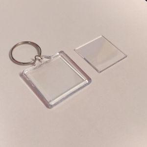 Брелок акриловый для ключей, квадрат 40*40мм ( 1уп = 10 шт)