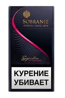 Сигареты Sobranie Superslims Black