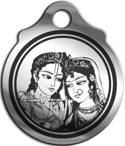 """Амулет """"Кришна и Радха"""", медицинская сталь"""