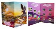 РАСПРОДАЖА!!! Набор монет 1 рубль Кавказские-Минеральные Воды в альбоме, цветные