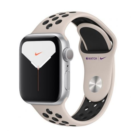 Apple Watch Nike Series 5 Silver Aluminum Case 44mm GPS Desert Sand/Black with Nike Sport Band