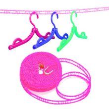 Веревка для сушки белья на плечиках, 5 м, Цвет: Розовый