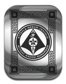 """Магическая карта """"Пентакль для защиты имущества"""", 45Х35  мм, сталь с покрытием"""