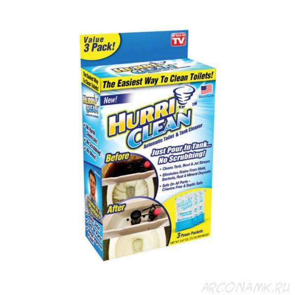 Пенящийся очиститель для унитаза Hurri Clean, 3 пакета