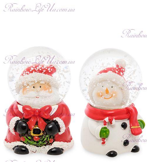 """Шар со снегом """"Дед Мороз и Снеговик"""""""