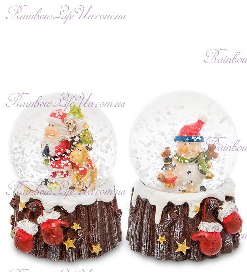 """Шар - варежки со снегом """"Санта и снеговик"""""""