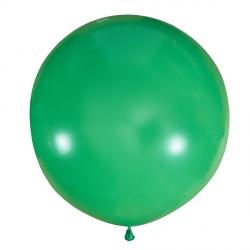 Зеленый полуметровый латексный шар с гелием