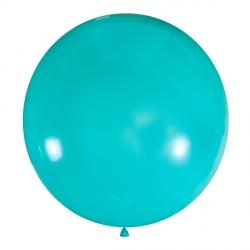 Мятный полуметровый латексный шар с гелием