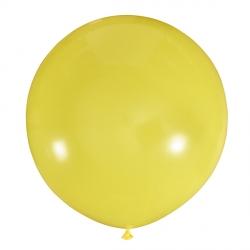 Желтый полуметровый латексный шар с гелием
