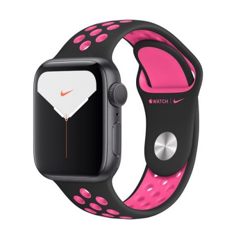 Apple Watch Nike Series 5 Space Gray Aluminum Case 40mm GPS Black/Pink Blast with Nike Sport Band