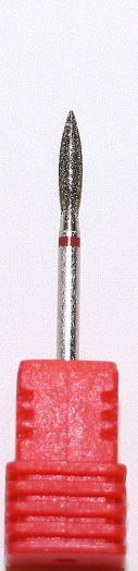 Бор алмазный пламя, фреза красная 3 мм (3305)