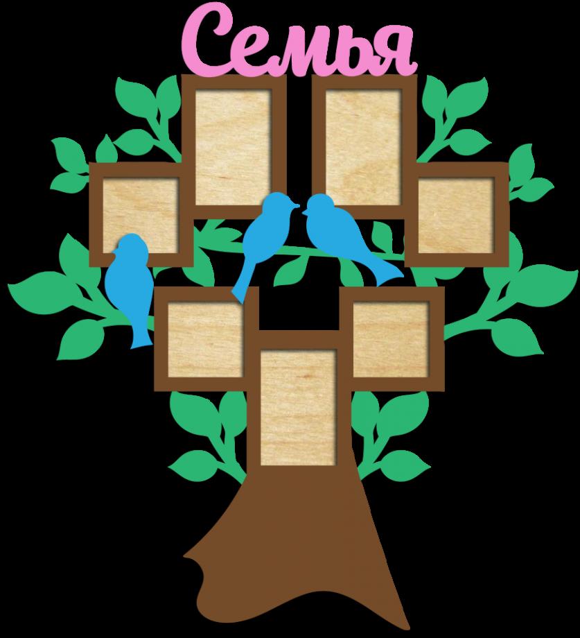 Семейное дерево с фоторамками 7