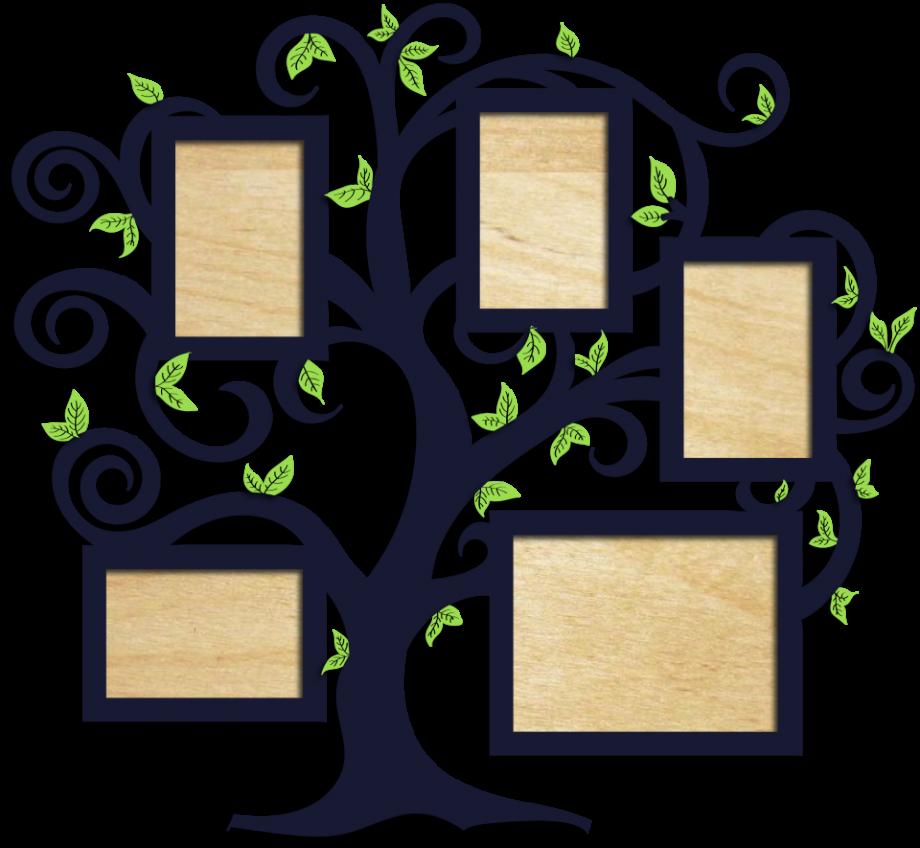 Семейное дерево с фоторамками 52