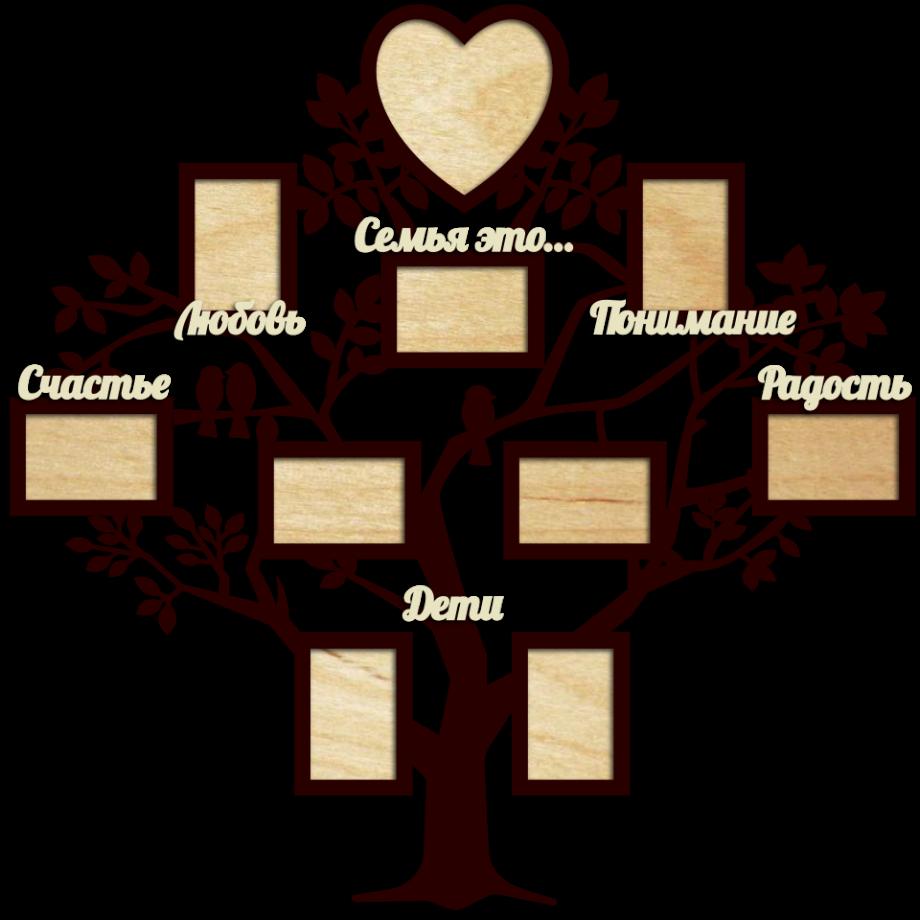 Семейное дерево с фоторамками 72