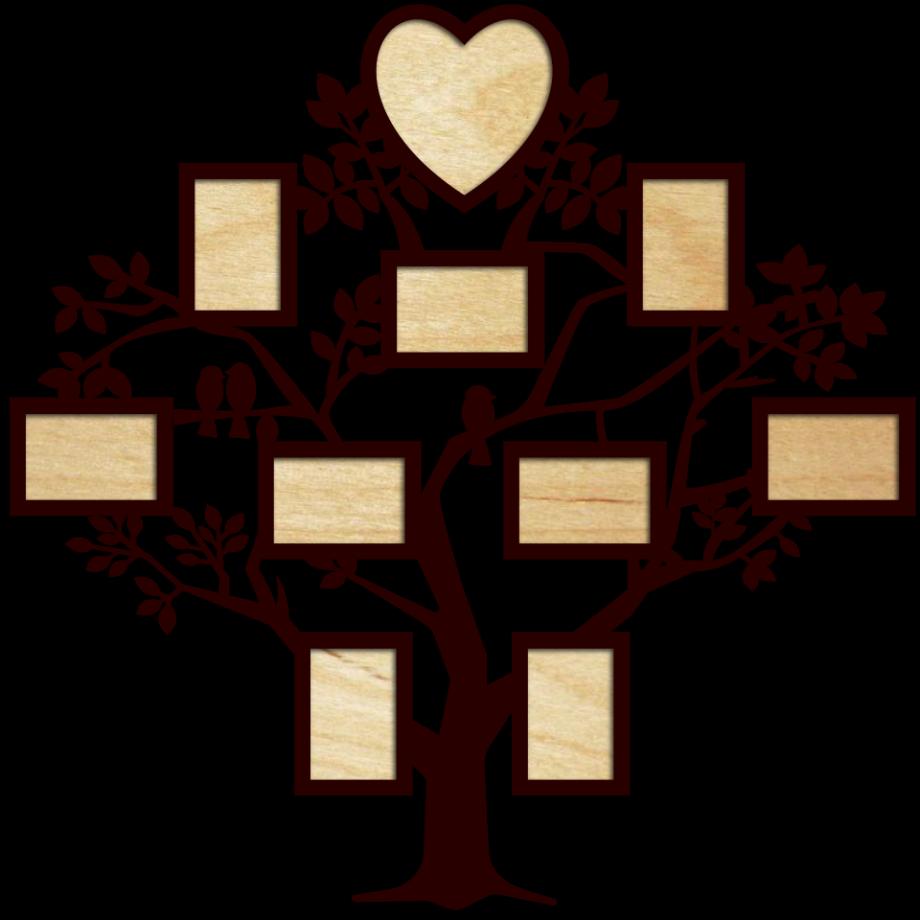 Семейное дерево с фоторамками 83