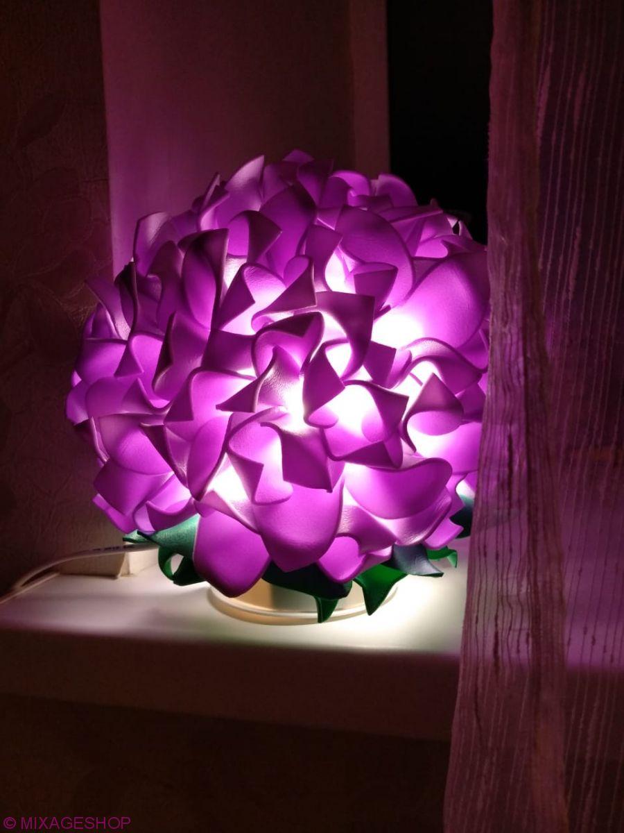 Светильник-ночник гортензия цвет лаванда