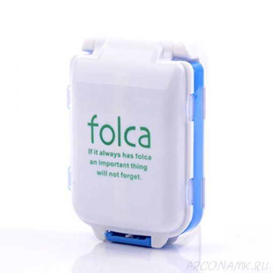 Портативная таблетница Folca, 10х6.5х3.5 см