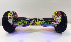 Giroskuter-Smart-Balance-12-dyujmov-Samobalans-APP-Zholtyj-graffiti