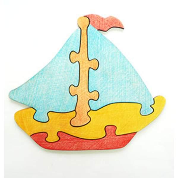 """Развивающая игрушка: Пазл-раскраска """"Кораблик"""""""