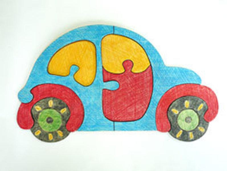 "Развивающая игрушка: Пазл-раскраска ""Машинка"""