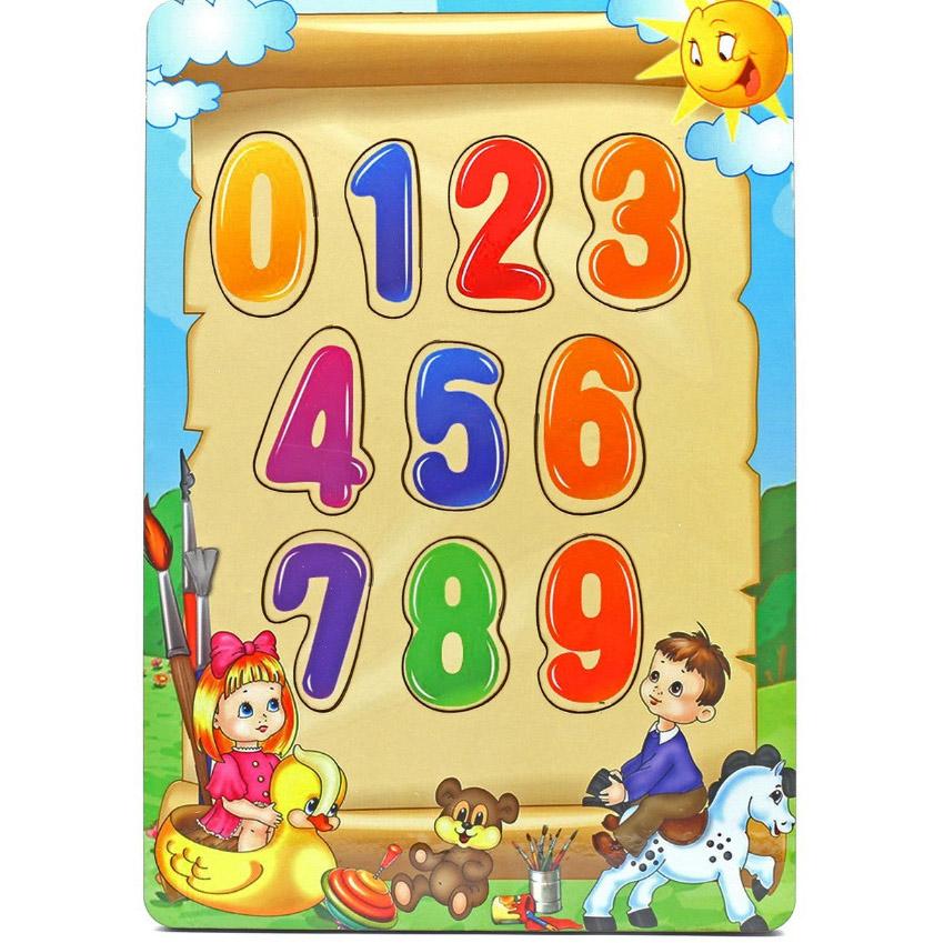 Развивающая игрушка: рамка-вкладка  «Учим цифры»