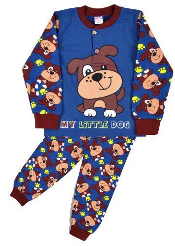 Пижама с начесом, для мальчиков 2-6 лет BN922 синий