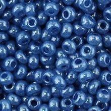 Бисер чешский 17136 ярко-синий непрозрачный Preciosa 1 сорт
