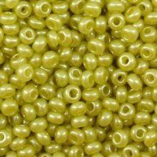 Бисер чешский 17786 оливковый непрозрачный жемчужный Preciosa 1 сорт