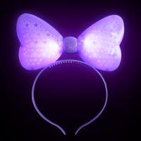 """Светящийся ободок """"Бант"""", цвет фиолетовый (1)"""